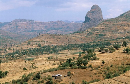 Near Addis Zemen. Ethiopia. : Stock Photo