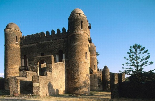 Emperor Fasilidas Palace. Imperial City. Gondar. Ethiopia. : Stock Photo
