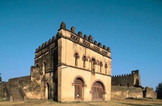 Emperor Yohannes I Library. Imperial City. Gondar. Ethiopia. : Stock Photo