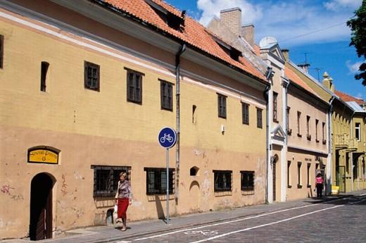 German merchants´ houses (XVth-XVIth centuries). Town Hall square. Kaunas. Lithuania. : Stock Photo