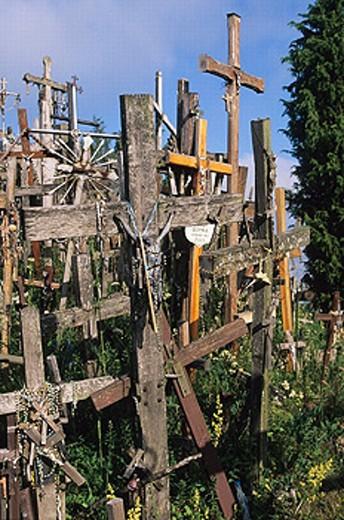 Stock Photo: 1566-0204859 Hill of Crosses, Jurgaicai. Siauliau. Lithuania.