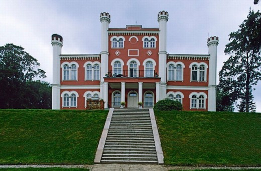Stock Photo: 1566-0205084 Birinu Manor (1857-1860). Vidzeme, Latvia