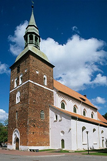 St. Simon´s church (1283), Valmiera. Vidzeme, Latvia : Stock Photo