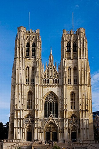 Stock Photo: 1566-0206593 St. Michael´s cathedral (aka St. Gudule´s). Brussels. Belgium