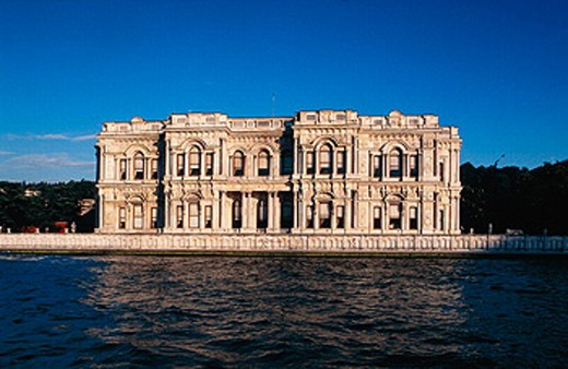 Dolmabaçe, former palace of Ataturk Mustapha Kemal on Bosphorus. Istanbul. Turkey. : Stock Photo