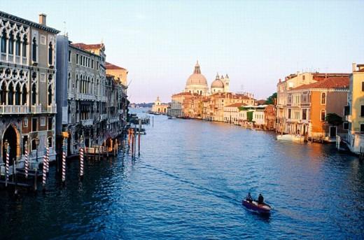 Salute. Grand Canal. Venice. Veneto. Italy. : Stock Photo