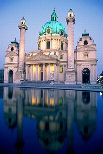Karlskirche Church. Vienna. Austria : Stock Photo