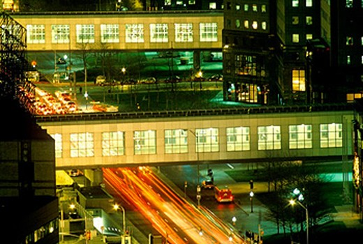 Stock Photo: 1566-0209260 Pedestrian walkways, Manhattan. New York City, USA
