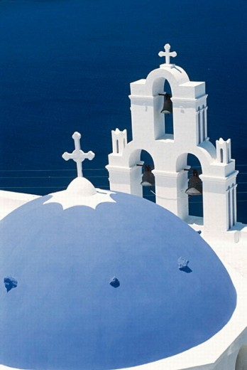 Church, Firostefani. Santorini, Greece : Stock Photo