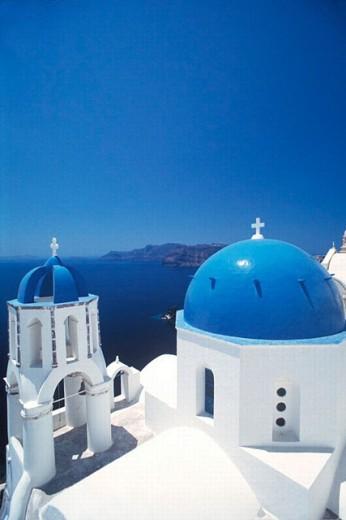 Oía. Santorini, Greece : Stock Photo
