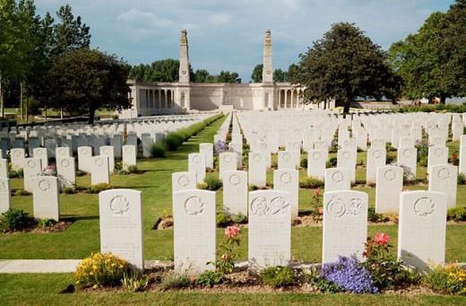 British First World War Cemetery, Vis en Artois, Pas de Calais, France : Stock Photo