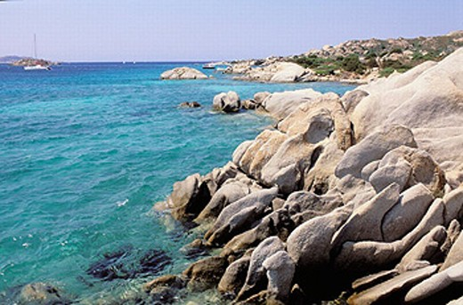 Maddalena island- Maddalena archipelago - International Marin park of ´Bouches de Bonifacio´ - Sardinia - Italy : Stock Photo