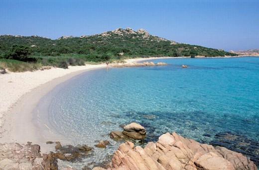 Stock Photo: 1566-0210229 Cala dei Cavaliere - Budelli island - Maddalena archipelago - International Marin park of ´Bouches de Bonifacio´ - Sardinia - Italy