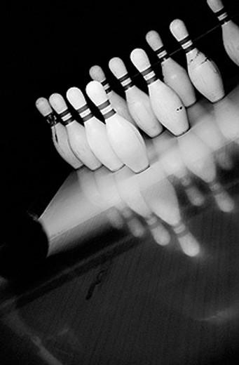 Bowling pins : Stock Photo