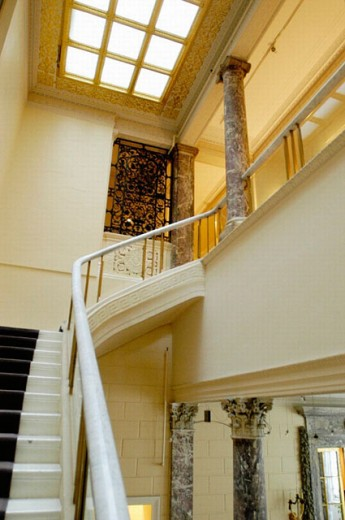 Stairs of Stanford White´s house for Payne Whitney in New York City, USA : Stock Photo