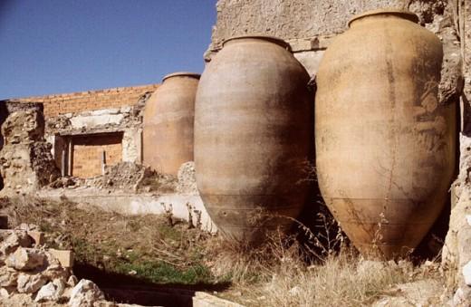 Jars. Alarcón. Cuenca province, La Mancha. Spain : Stock Photo