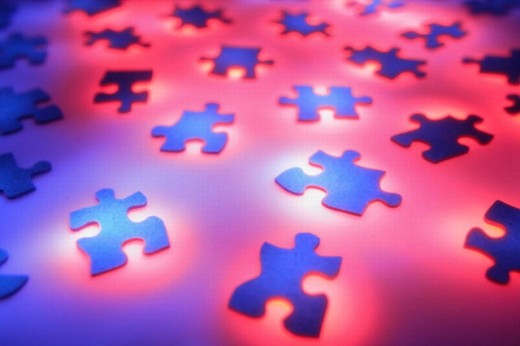 Puzzle pieces : Stock Photo