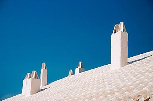 Binibeca Vell, old fishermen´s town. Minorca, Balearic Islands. Spain : Stock Photo