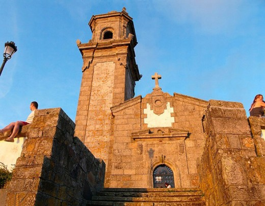 Stock Photo: 1566-0216945 A Guia chapel. Vigo. Galicia. Spain.