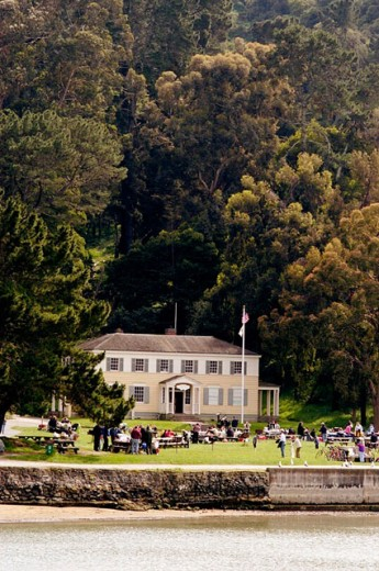 Angel Island visitor´s center. Bay area, California. USA. : Stock Photo