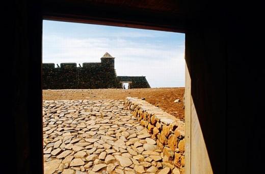 ´Citade Velha´ (now Ribeira Grande), old fort dating 17th century. São Tiago island, Cape Verde : Stock Photo