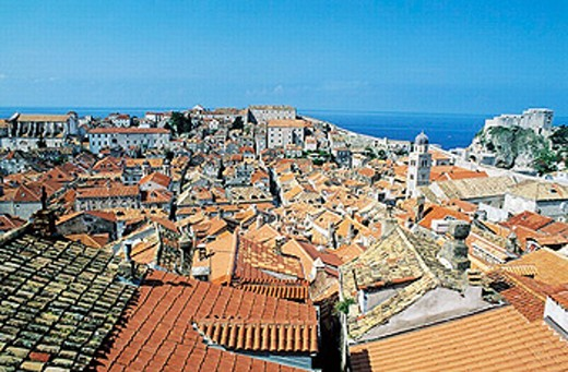 Old medieval city, Dubrovnik. Dalmatian coast, Croatia : Stock Photo