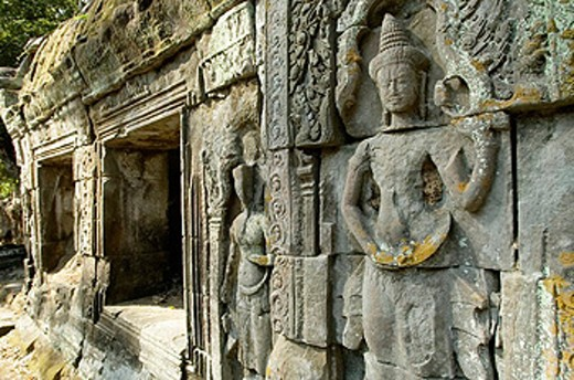 Stock Photo: 1566-0219089 Ta Prohm temple, mid XIIth century, early XIIIth century AD. Buddhist. Temples of Angkor. Siem Reap area. Kingdom of Cambodia.