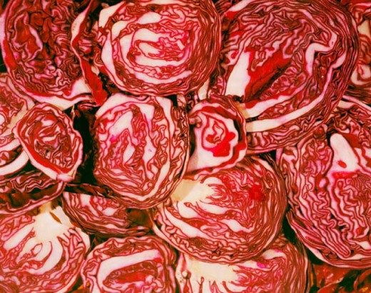 Red cabbage : Stock Photo