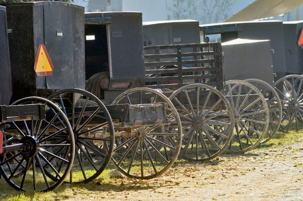 Amish life in Millersburg and Sugrar Creek Holms County Ohio : Stock Photo