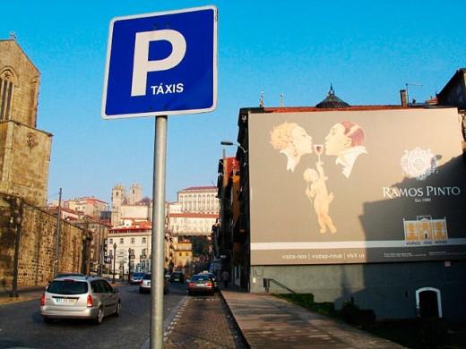 Taxi stop. Oporto. Portugal. : Stock Photo