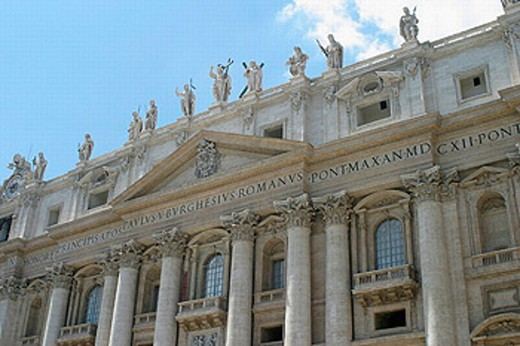 St. Peter´s Basilica facade. Vatican City, Rome. Italy : Stock Photo