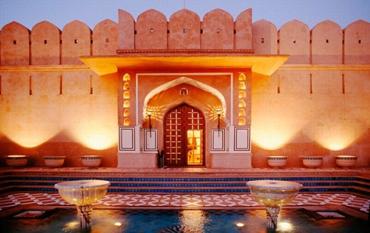 Stock Photo: 1566-0220884 Rajvilas Hotel. Jaipur. Rajasthan. India