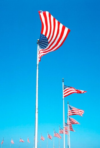 U.S. Flags : Stock Photo