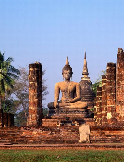 Buddha in Wat Mahathat. Sukhothai, Thailand : Stock Photo