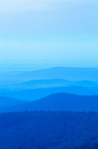 Stock Photo: 1566-0225270 Blue Ridge Mountains. Shenandoah National Park. Virginia. USA