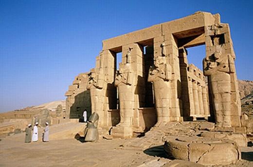 Stock Photo: 1566-0225968 Ramesseum (Deir el Bahari). Nile west bank. Luxor. Egypt
