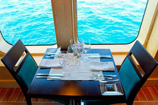 "Cruise on the luxury 30 cabins yacht ""Tia Moana"". Leeward islands. French Polynesia . South pacific : Stock Photo"