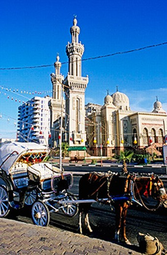 Stock Photo: 1566-0226812 Main mosque. Port Said at the mediterranean entrance of the Suez canal. Egypt