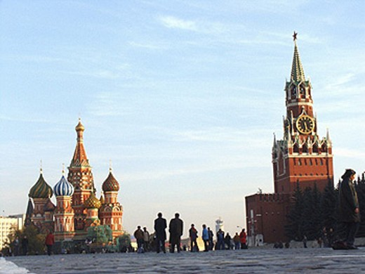 Moscow, Russia, Red Square, Saint Basil´s Cathedral : Stock Photo