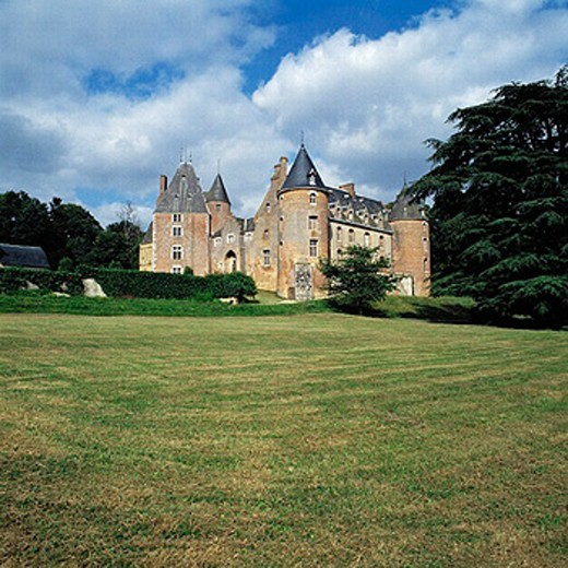 France, Loire Valley, Blancafort castle : Stock Photo