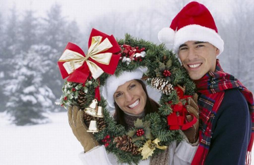 Couple on christmas : Stock Photo