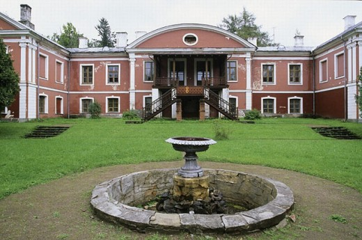 Oisu manor (XIXth century). Estonia. : Stock Photo