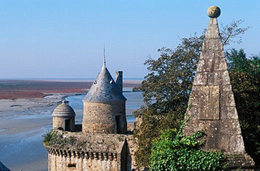 Mont Saint Michel. Manche, Normandie, France : Stock Photo