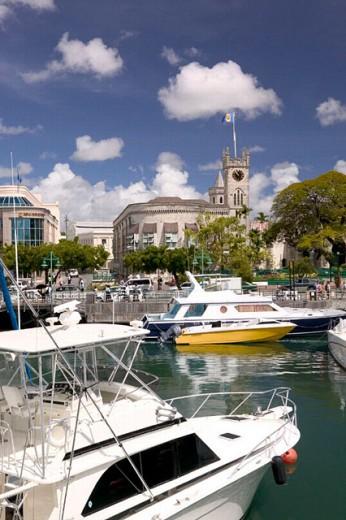 Stock Photo: 1566-0229892 Barbados, Bridgetown: The Careenage Inner Harbor / Daytime