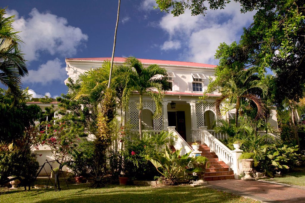 Barbados, East Coast, East Point: Sunbury Plantation House & Museum (b.1670) : Stock Photo
