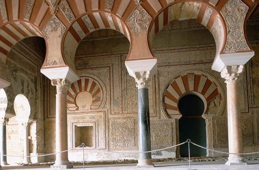 Ruins of Medina Azahara palace. Abd al-Rahman III´s lounge. Córdoba province. Andalusia. Spain : Stock Photo