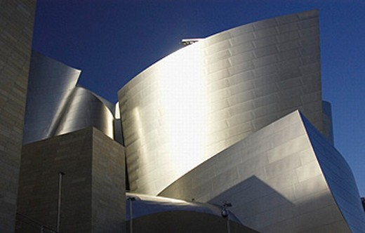 Walt Disney Concert Hall (1987-2003) by Frank Gehry. Los Angeles. USA : Stock Photo