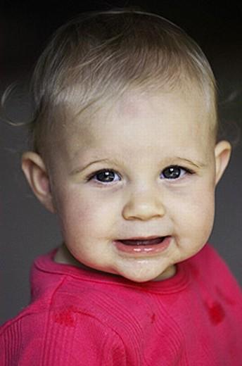 Baby girl portrait : Stock Photo