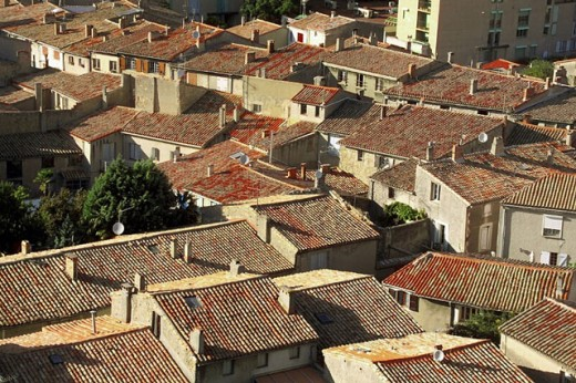 Stock Photo: 1566-0231960 La Cite medieval, old town. Carcassone. Aude. Languedoc Roussillon. France.