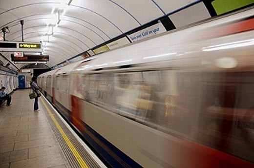 Stock Photo: 1566-0231978 Underground Station at Oxford Circus. London. England. UK.